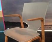 Plexiglas Satiniert Stuhl mit Holz