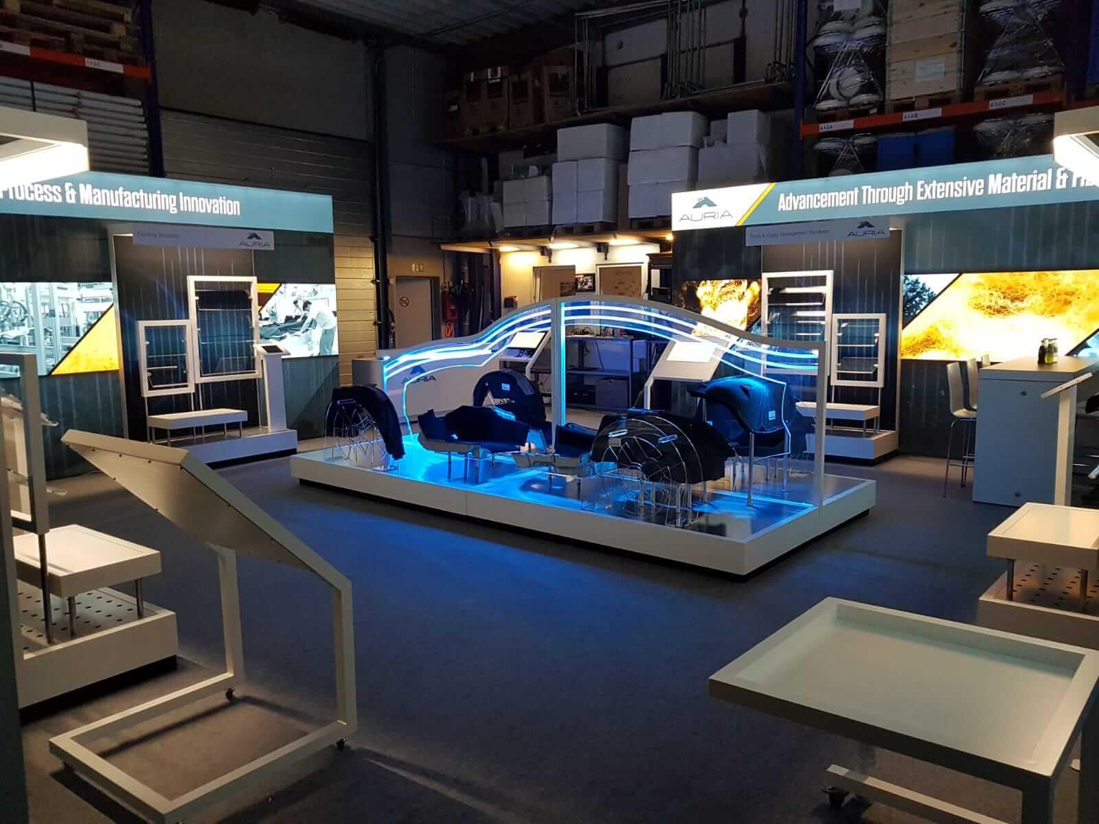 Messestand Audi A8 Aufbau