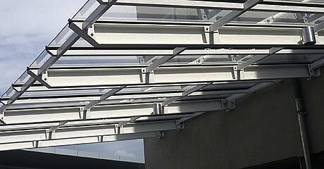 Makrolon UV Überdachung