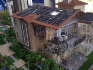Modellbau Haus mit PV