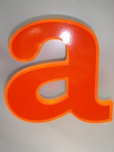 Profilbuchstaben 5