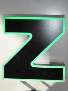 Profilbuchstaben 6
