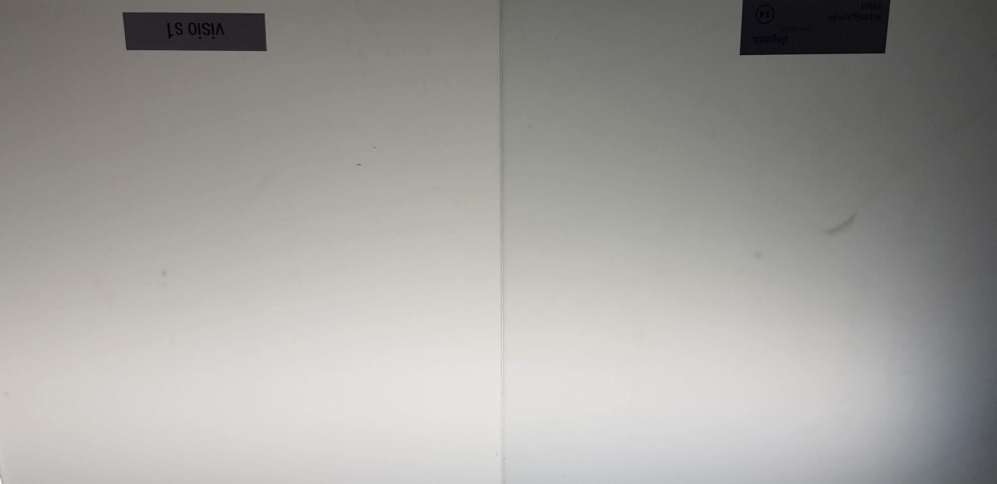 Plexiglas RP gegen VisioS1 im Durchlicht