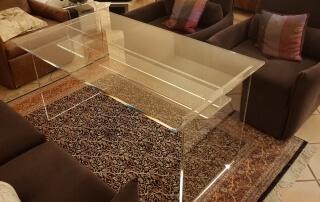 Plexiglas Tischfarblos 15mm