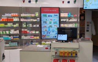Spuckschutz für Apotheken - Schutz vor Coronavirus