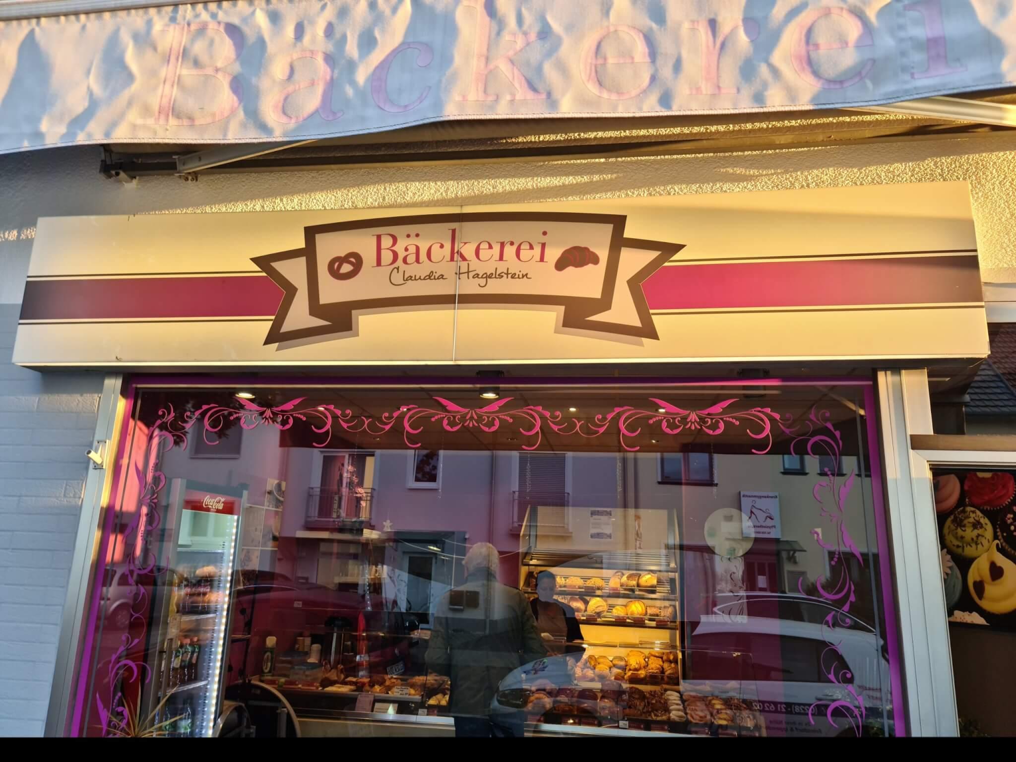 Beleuchtete Aussenwerbeanlage Bäckerei